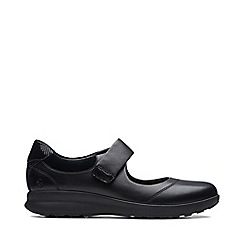 Clarks - Black Leather 'Un Adorn' Shoes