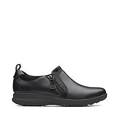 Clarks - Black Leather 'Un Adorn' Shoes