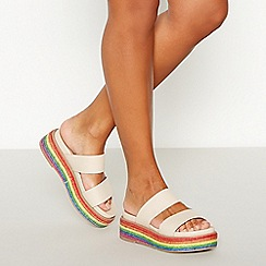 Faith - Multicoloured 'Jester' Flatform Sandals
