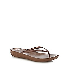 FitFlop - Bronze 'Iqushion' Flip Flops