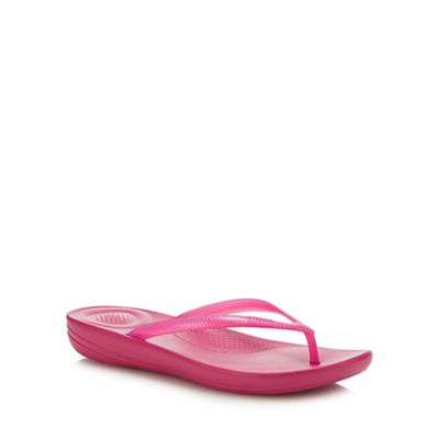 774797afb8e FitFlop Pink  Iqushion - Pearlised  Flip Flops