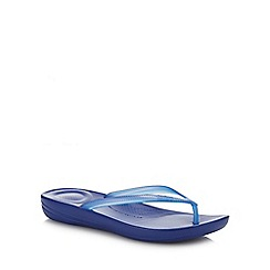 FitFlop - Blue 'iQushion - Pearlised' Flip Flops