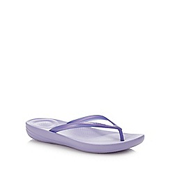 FitFlop - Purple 'Iqushion - Pearlised' Flip Flops
