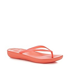 FitFlop - Coral 'iQushion - Pearlised' Flip Flops