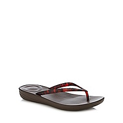 FitFlop - Chocolate Brown 'Iqushion - Tortoiseshell' Flip Flops