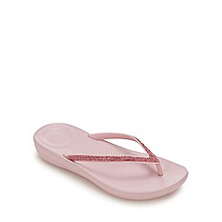 FitFlop - Pink Diamante 'iQushion' Flip Flops