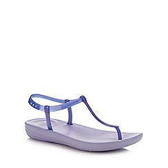 FitFlop - Purple 'Iqushion - Splash' Flip Flops