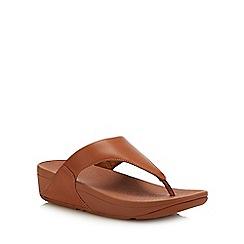 FitFlop - Tan 'Lulu' Flatform Heel Flip Flops