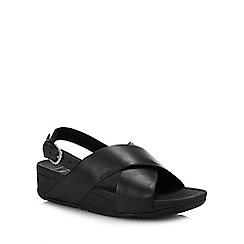 FitFlop - Black 'Lulu - Cross' Slingback Sandals