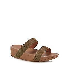 584791713c17 FitFlop - Gold  Lottie Glitzy  Wedge Heel Sandals