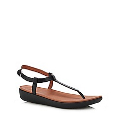 FitFlop - Black Leather 'Tia' Sandals