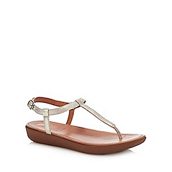 FitFlop - Silver Leather 'Tia' Sandals