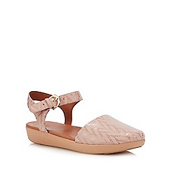 FitFlop - Pink Leather 'Cova II' Ankle Strap Sandals