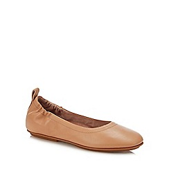 FitFlop - Natural Leather 'Allegro' Ballet Pumps