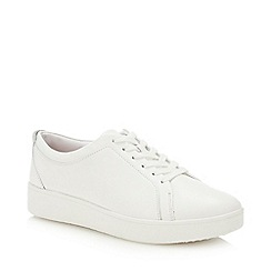 FitFlop - White Leather 'Rally' Trainers
