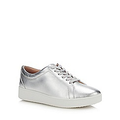 FitFlop - Silver Leather 'Rally' Trainers