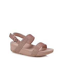 b838bf12e48 FitFlop - Pink  Lottie Glitzy  Wedge Heel Sandals