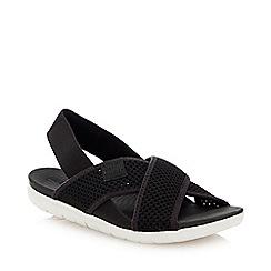 FitFlop - Black 'Airmesh' Slingback Sandals
