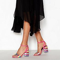 Faith - Multi Sequin 'Dancer' Block Heel Sandals