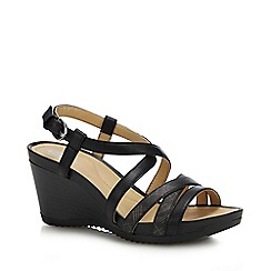 Geox - Black 'New Rorie' Wedge Heel Sandals