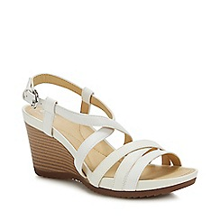 Geox - Off White 'New Rorie' Wedge Heel Sandals