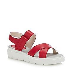 Geox - Red 'Tamas' Wedge Heel Sandals