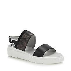 Geox - Black 'Tamas' Wedge Heel Slingback Sandals