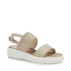 Geox - Beige 'Tamas' Wedge Heel Slingback Sandals