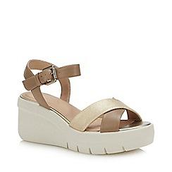 Geox - Nude 'Torrence' Wedge Heel Sandals