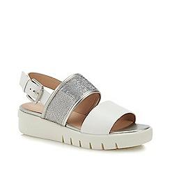 Geox - White Sequin 'Wimbley' Wedge Heel Slingback Sandals