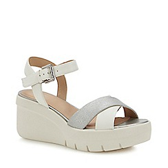 Geox - White 'Torrence' Wedge Heel Ankle Sandals