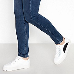 J by Jasper Conran - White Leather 'Jotty' Trainers