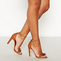 Faith - Tan Chain Trim 'Lenna' High Stilleto Heel Sandals