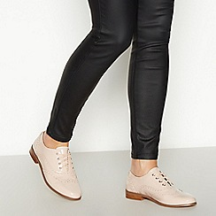Faith - Nude Patent 'Albie' Lace Up Brogues