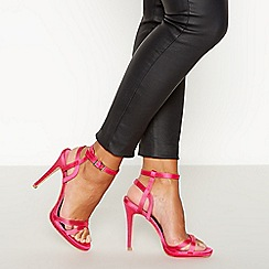Faith - Pink Satin 'Lucky' High Stilleto Heel Sandals