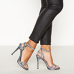 Faith - Multicoloured 'Lucky Shimmer' High Stiletto Heel Sandals