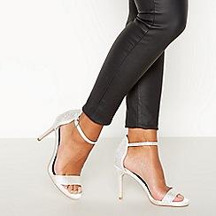 Faith - Ivory Diamante Satin 'Lovely' High Stilleto Heel Sandals