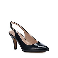 Lotus - Navy Patent 'Lizzie' High Stiletto Heel Court Shoes