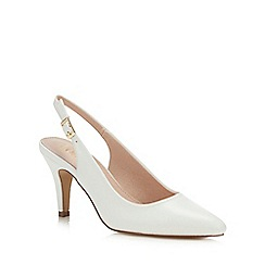 Lotus - White Patent 'Lizzie' High Stiletto Heel Court Shoes