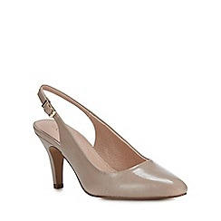 Lotus - Natural Patent 'Lizzie' High Stiletto Heel Court Shoes