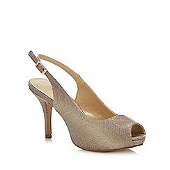 Lotus - Gold 'Adora' High Stiletto Heel Peep Toe Shoes