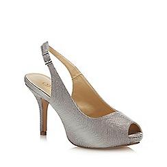 Lotus - Metallic 'Adora' High Stiletto Heel Peep Toe Shoes