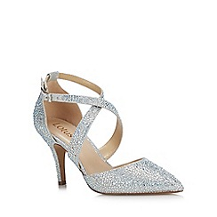 Lotus - Silver Diamante 'Star' High Stiletto Heel Court Shoes