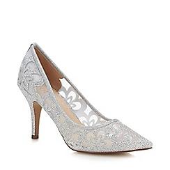 Lotus - Silver Mesh 'Sparkle' High Stiletto Heel Court Shoes