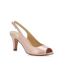 Lotus - Pink Metallic 'Larissa' High Stiletto Heel Peep Toe Shoes