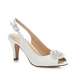 Lotus - White Patent 'Elodie' High Stiletto Heel Peep Toe Shoes