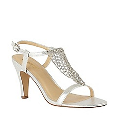 09bc8b211fca Lotus - Silver Diamante  Lola  High Stiletto Heel Ankle Strap Sandals