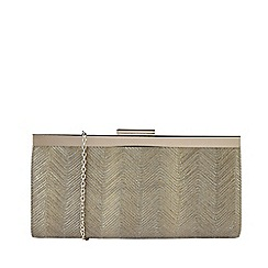 Lotus - Metallic Gold Clutch Bag