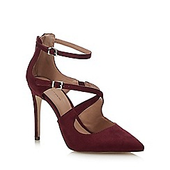 Call It Spring - Wine Red Suedette 'Friedda' Stiletto Heel Pointed Shoe