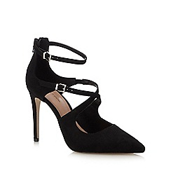 Call It Spring - Black Suedette 'Friedda' Stiletto Heel Pointed Shoe